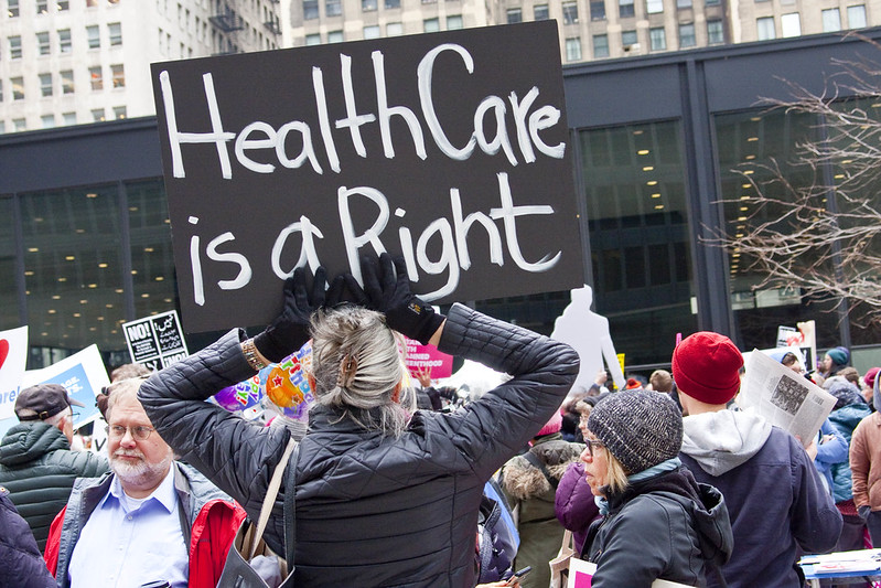 Photo  Charles Edward Miller, Save Our Health Care Rally Chicago 3-23-2017 9673. https://www.flickr.com/photos/cemillerphotography